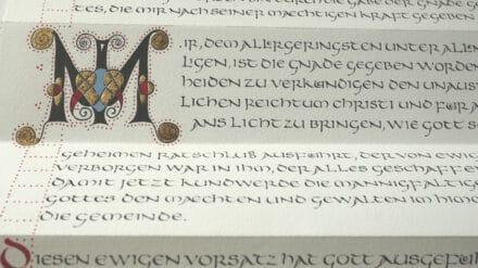 Neues Testament kalligraphiert von Antje Huse