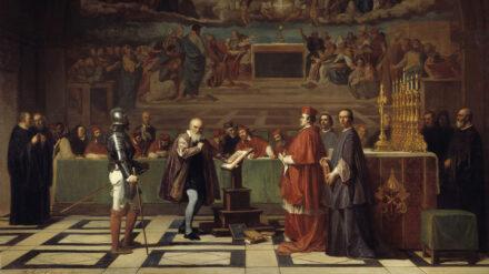 Galileo Galilei vor der Inquisition im Vatikan 1632