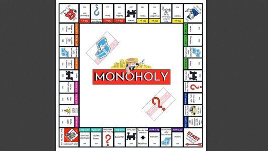 """Im ursprünglichen Spiel müssen die Spieler möglichst viel Geld anhäufen, in der Variante des Pastors, die den Namen """"Monoholy"""" trägt, geht es darum, dass die Spieler ihr Geld verschenken. Jetzt gibt es das Spiel auch in einer überarbeiteten deutschen Variante"""