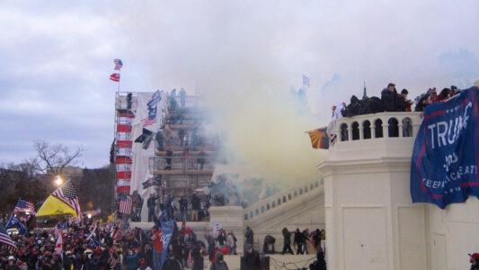6. Januar 2021: Tränengas vor dem Kapitol in Washington, D.C.