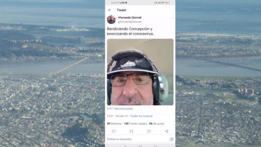 """Der Erzbischof der chilenischen Stadt Concepción, Fernando Chomali, hat aus einem Helikopter heraus gegen Corona in seiner Region angebetet und damit eine Debatte um einen """"Exorzismus"""" ausgelöst"""
