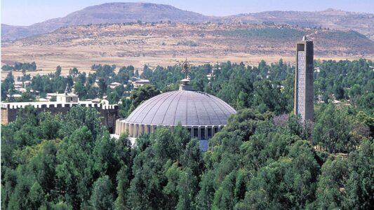 """Laut verschiedenen Medienberichten soll in der Nähe der """"St. Maria von Zion""""-Kirche in Aksum ein Massaker stattgefunden haben"""