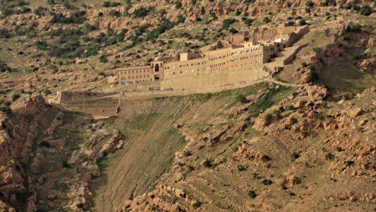 Das Mor-Mattai-Kloster Kloster im Nordirak ist für seine Sammlung von syrisch-christlichen Manuskripten bekannt