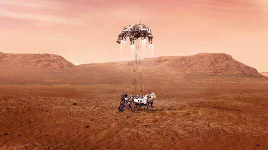 """Am 18. Februar 2021 landete die Mars-Sonde """"Perseverance"""" der NASA auf dem Mars. Manche fragen sich: Wenn sie Leben auf dem Planeten entdecken würde, was bedeutete das für den christlichen Glauben?"""