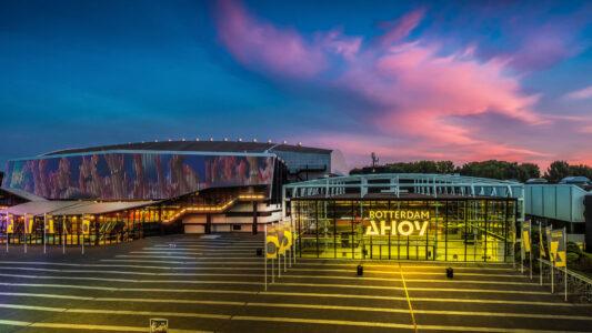In Rotterdam in der Ahoy Arena treten im Mai die Künstler zum Eurovision Song Contest an.