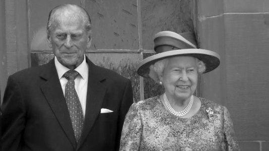 Prinz Philip und Königin Elisabeth II. bei ihrem Besuch in Frankfurt am Main im Jahr 2015