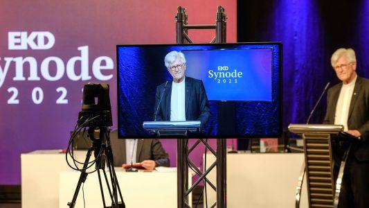 Heinrich Bedford-Strohm, EKD-Synode Mai 2021, digital