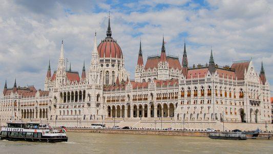 Das Parlamentsgebäue in Budapest
