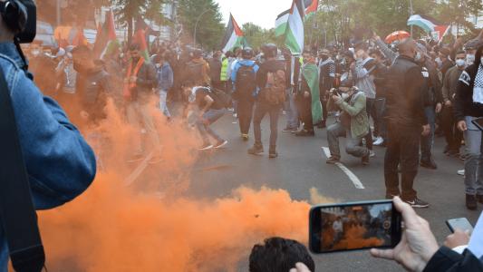 Demonstration zum Nakba-Tag in Berlin