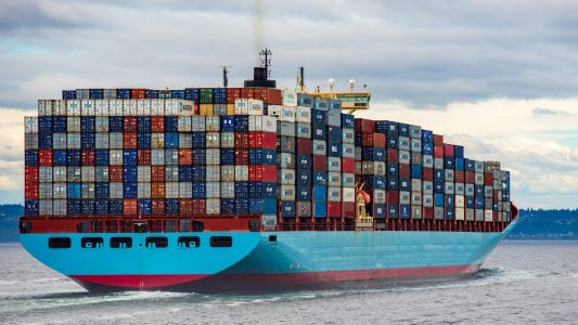 Schiff, Container, Frachter, Lieferkette, Export