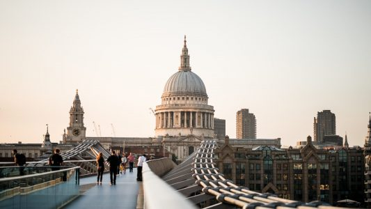 Blick auf St.-Paul's Cathedral